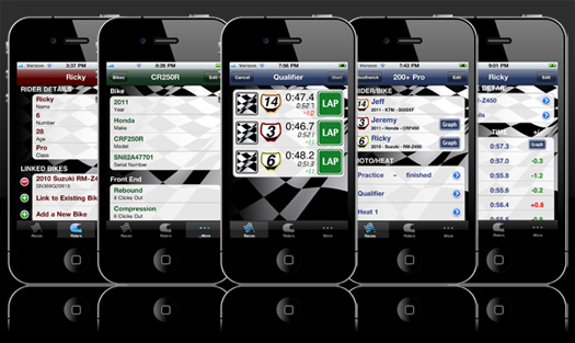 RaceTrackerMX iPhone iPod Touch iPad motocross app